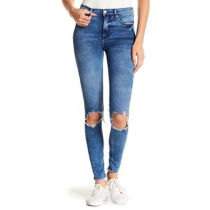FREE PEOPLE Hi-Rise Busted Knee Skinny Jean NWT 31